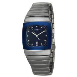 Rado Silver Ceramic Blue dial Watch for Men's R13810202