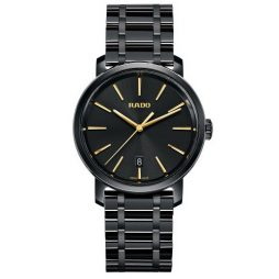 Rado Black Leather Black dial Watch for Men's R14066152