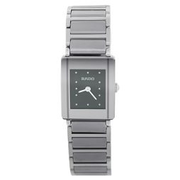 Rado Silver Ceramic Black dial Watch for Women's R20488172