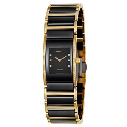 Rado Two Tone Gold Black dial Watch for Women's R20753752