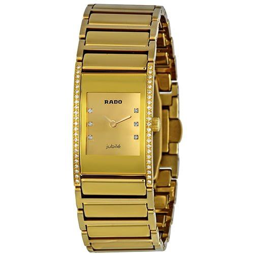 Rado Gold Ceramic Gold dial Watch for Women's R20783732
