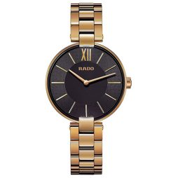 Rado Gold Stainless Black dial Watch for Women's R22851163