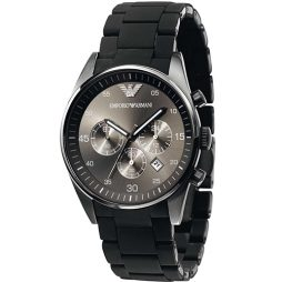 Armani Black Stainless Black dial Watch for Men's AR5889