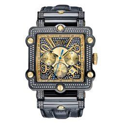 JBW Black Leather Black dial Watch for Men's JB-6215-238-F