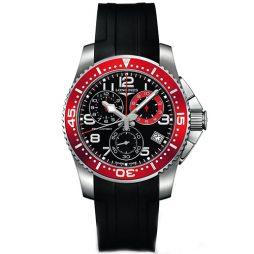 Longines Black Rubber Black dial Watch for Men's L36904592