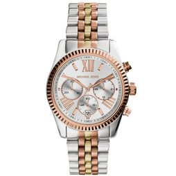 Michael Kors Two Tone Stainless Silver dial Watch for Women's MK5735