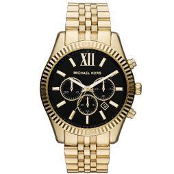 Michael Kors Gold Stainless Black dial Watch for Men's MK8286