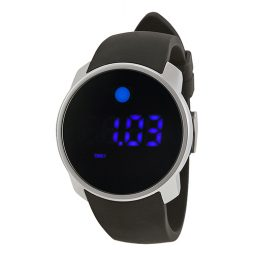 Movado Black Silicone Black dial Watch for Men's 3600146
