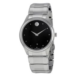 Movado Silver Stainless Black dial Watch for Men's 0606839