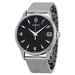 Movado Silver Stainless Black dial Watch for Men's 0606802