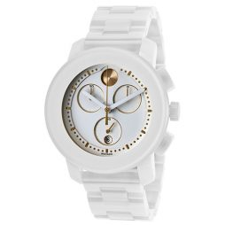 Movado White Ceramic White dial Watch for Women's 3600187