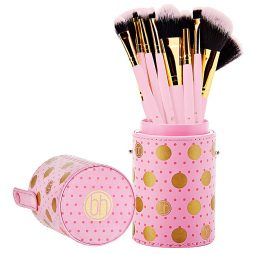 Dot Collection - 11 Piece Brush Set Pink