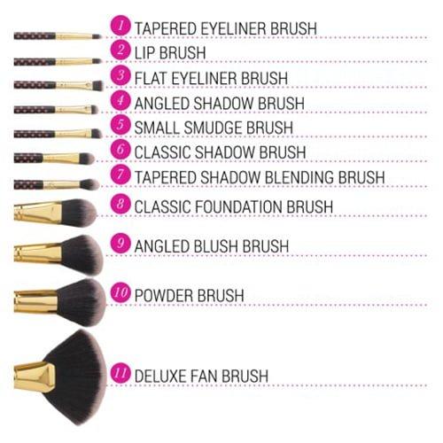11 pc Pink-A-Dot Brush Set