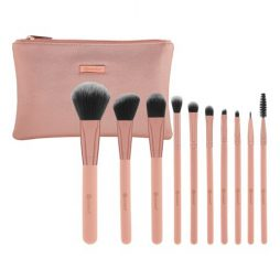 Pretty in Pink – 10 Piece Brush Set with Cosmetic Bag